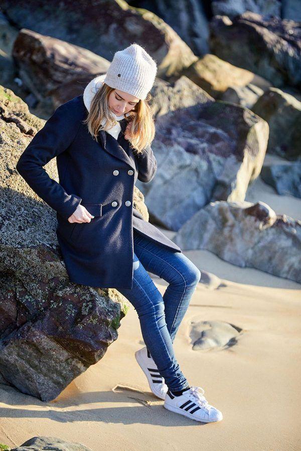abrigo chaqueton comando batela urzelai mujer marino a2592 2