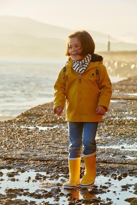 chubasquero batela niño niña urzelai amarillo c3117 navy invierno otoño 2