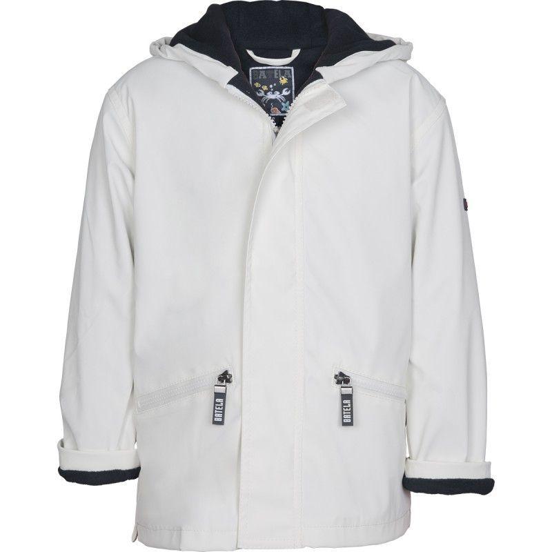 chubasquero con forro polar batela urzelai niño niña impermeable invierno navy C3102 blanco