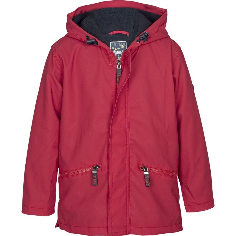 chubasquero con forro polar batela urzelai niño niña impermeable invierno navy C3102 rojo