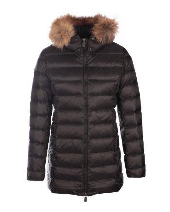 jott mujer plumifero chaqueta abrigo negro